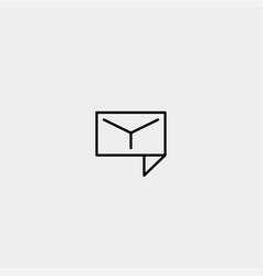 Letter y chat logo design template vector
