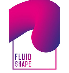 liquid fluid shape cover design modern abstract vector image