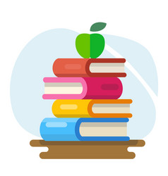 Literature and library knowledge and study vector