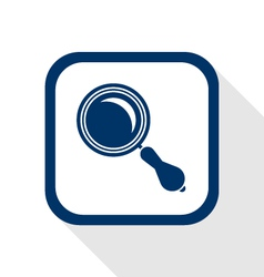 magnifier flat icon vector image