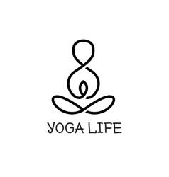 minimalistic yoga logotype Health logo vector image