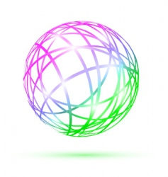 Multicolored abstract ball vector