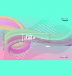 pastel colors abstract wave liquid flow poster vector image