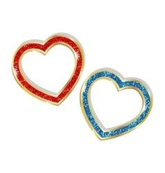 Pendant heart in a frame vector