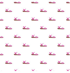pink sandal pattern seamless vector image