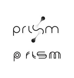 Prism logo monogram vector