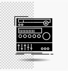 rack component module sound studio glyph icon on vector image
