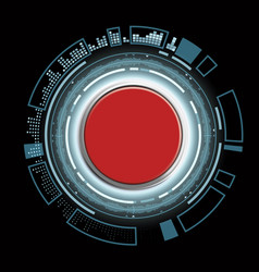 Red futuristic button vector