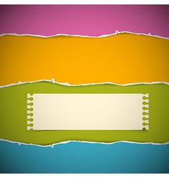 Retro Torn Paper Background vector