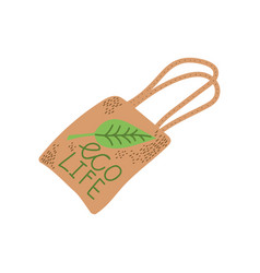 Reusable eco bag zero waste object eco lifestyle vector