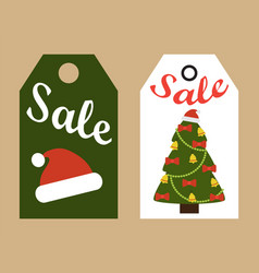 Sale promo tags ready to use labels xmas symbols vector