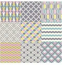 Seamless retro geometric wallpaper vector