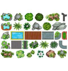 set garden for decoration vector image