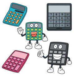 set of calculator vector image