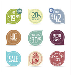 set of modern stickers and badges vector image