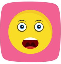 Shouting emoji icon vector