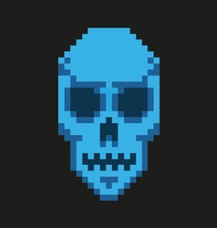 skull 8 bit vector image