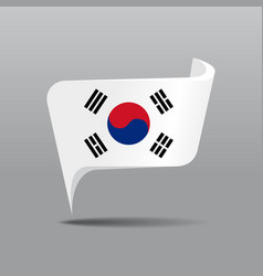 South korean flag map pointer layout vector