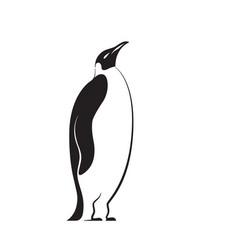 stylized penguin vector image