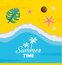 summer time holiday beach poster vector image