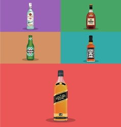 Top-alcohol-brands vector