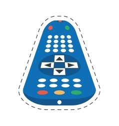 tv control remote channel vector image
