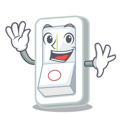 Waving light switch attaches the character wall vector