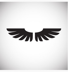 wing icon on white background for graphic and web vector image
