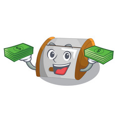 With money container food bread bin in store vector
