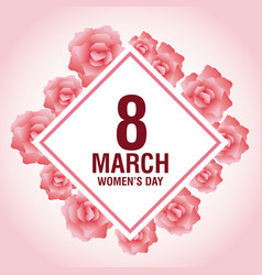 womens day pink card vector image