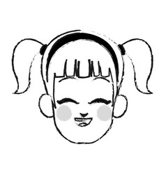 young girl icon image vector image