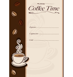 Cafe or restaurant card vector image