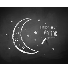 Crescent and stars vector image vector image