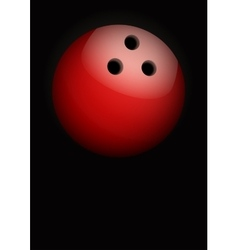 Dark Background of bowling ball vector image