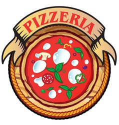 pizza with wood vector image vector image