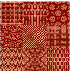 Seamless chinese traditional mesh pattern vector