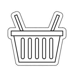 Shopping basket commercial icon vector