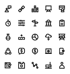 Web Design and Development Icons 6 vector image vector image
