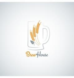 beer mug barley design background vector image