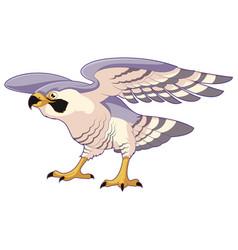 cartoon standing falcon vector image