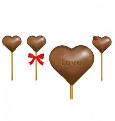 chocolate lollipop vector image vector image