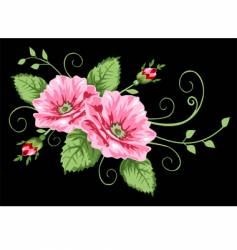 victorian rose pattern vector image vector image