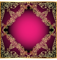 a background a frame with a gold ornament vector image