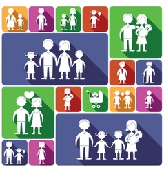 Family icons set flat vector image