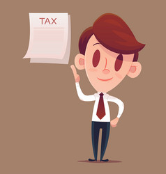 filing your taxes business man or manager holds vector image vector image
