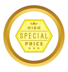 High special price label icon vector image vector image