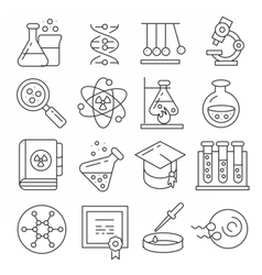 icons lines set vector image vector image