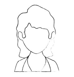 Isolated women face vector