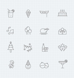 Party thin line symbol icon vector image vector image