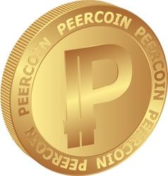 Peercoin vector image vector image